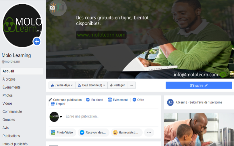 Agence de communication digitale Cameroun - Rodevdesign - Client Molo learning