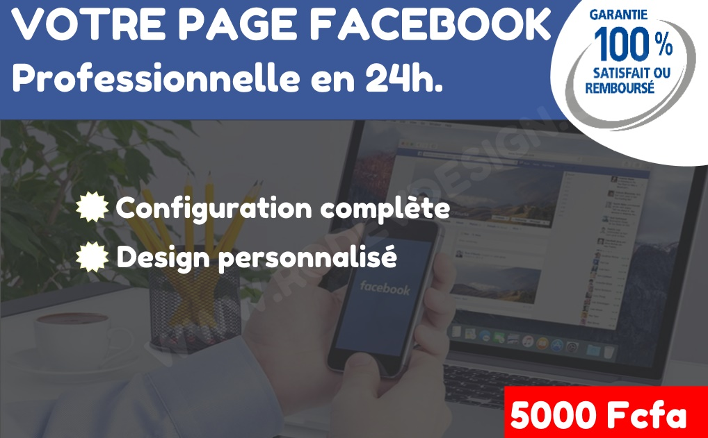 page facebook professionnelle - Cameroun